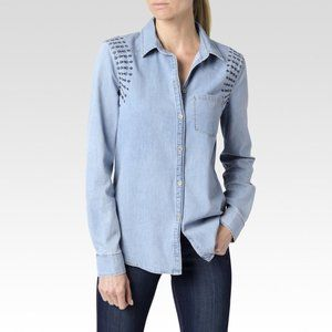 PAIGE Pari Embroidered Shirt - size Small